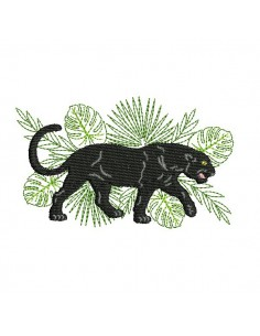 Instant download machine embroidery design black Panther