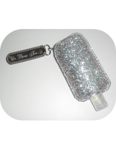 Instant download machine embroidery ith customizable  Sanitizer Holders Set