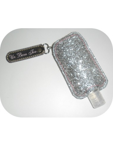 Instant download machine embroidery ith applique  Sanitizer Holders Set