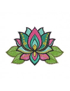 Instant dowload machine  Embroidery design lot flower
