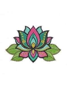 Motif de broderie machine fleur de lotus