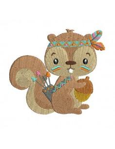 Instant download machine embroidery design squirrel