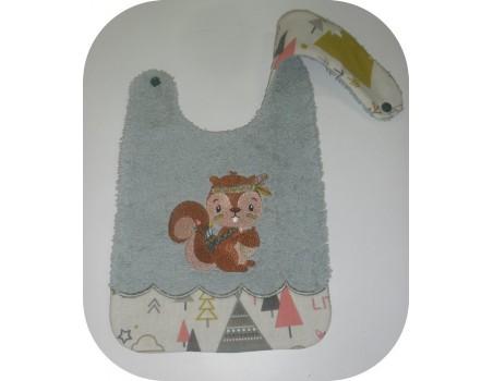 Instant downloads machine embroidery design machine  ITH  bib giraffe