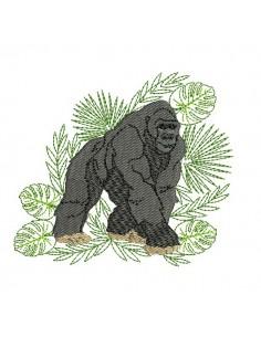 Motif de broderie machine gorille