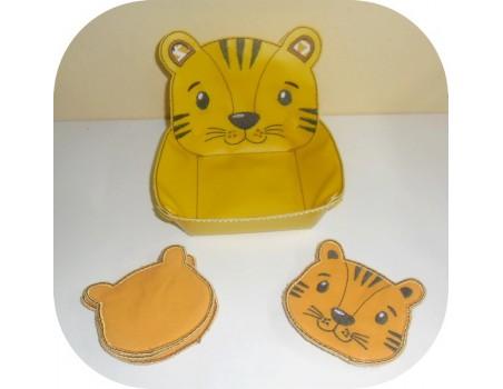 Instant download machine embroidery design ith fox  head box
