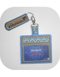 Motif de broderie machine ITH porte cartes