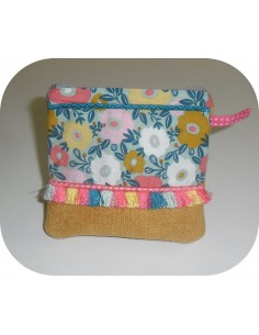 Instant download machine embroidery ith change purse  fringes