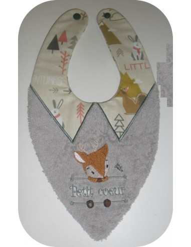 machine embroidery design   bandana bib TH