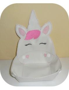 Instant download machine embroidery design ith unicorn head box