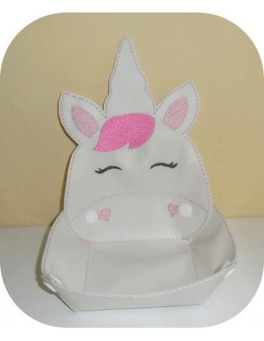 Instant download machine embroidery design ith tiger head box