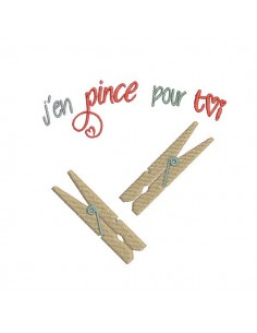 Instant download machine embroidery design clothespins