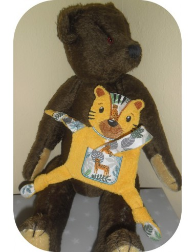 Instant download machine embroidery  monkey ith