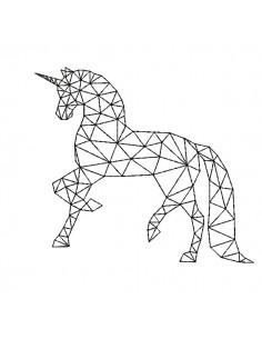Motif de broderie machine licorne  origami