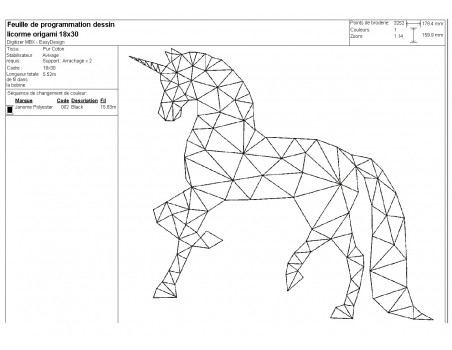 Instant download machine embroidery design geometric rabbit