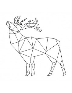 Instant download machine embroidery design geometric deer