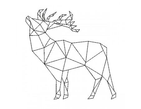 Instant download machine embroidery design geometric unicorn