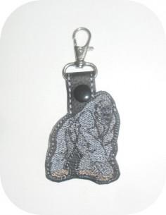 machine embroidery design  gorilla keychains ith