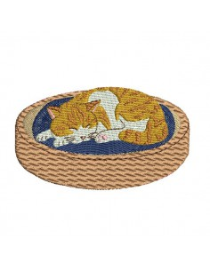 Motif de broderie machine chat qui dort