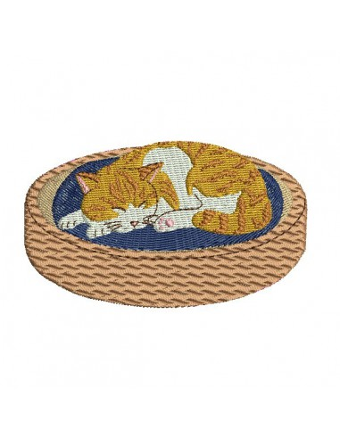 Instant download machine embroidery  cat on throw pillows