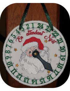 Instant dowload embroidery design  machine ith Christmas clock
