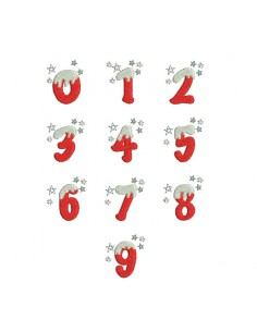 Instant download machine embroidery design christmas number digits