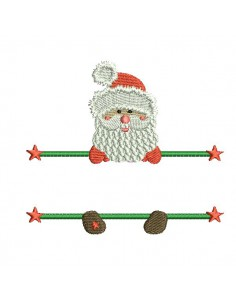 Instant download machine embroidery santa claus to customize for children