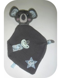 Instant download machine embroidery head  koala  ith