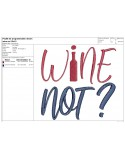 Instant download machine embroidery design wine tasting