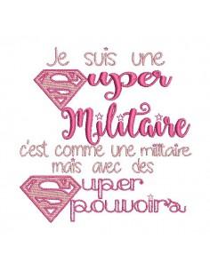 Embroidery design super military