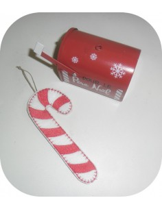 Instant download machine embroidery design  candy cane