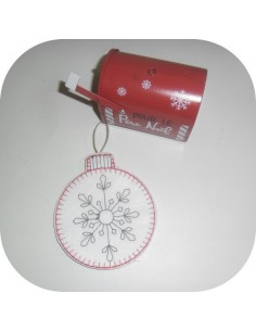 Instant download machine embroidery design ITH Christmas ornament
