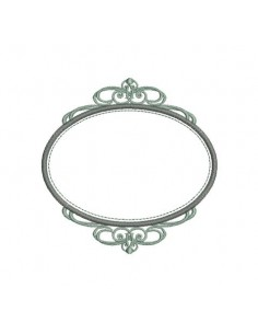 embroidery  design machine oval frame