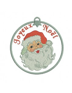 Instant download embroidery design Santa Claus