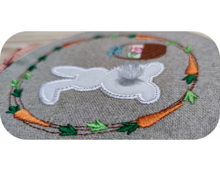 machine embroidery design easter  little rabbit 3D
