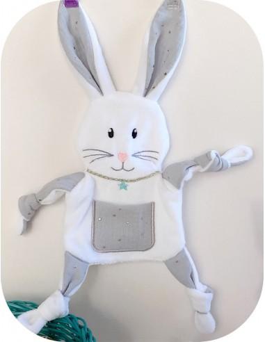 machine embroidery  design bunny ith