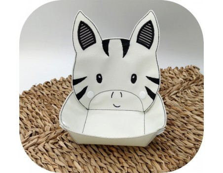 machine embroidery design ith zebra head box
