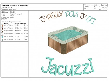 machine  embroidery design  i can not  jacuzzi