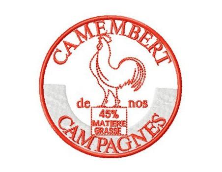 camembert coq 10x10cm