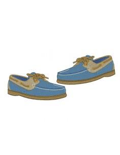 Motif de broderie chaussure  bateau homme