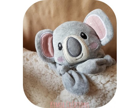 Motif de broderie machine tête  doudou koala  ITH