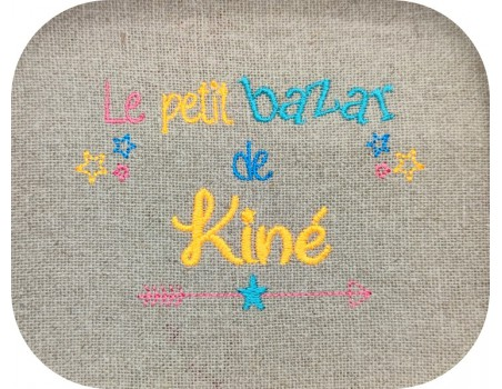 machine embroidery design text physiotherapist Bazaar