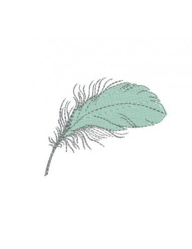 Motif de broderie redwork plumes