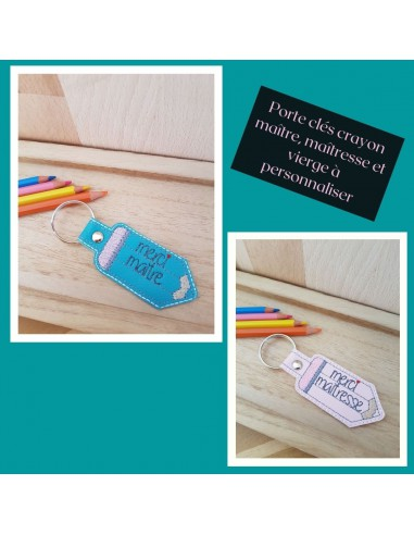 machine embroidery design customizable pencil keychains ith