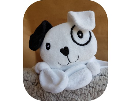 machine embroidery design dog head  ith