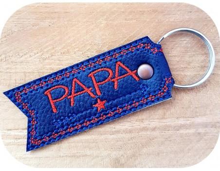 machine embroidery design  star dad  keychains ith