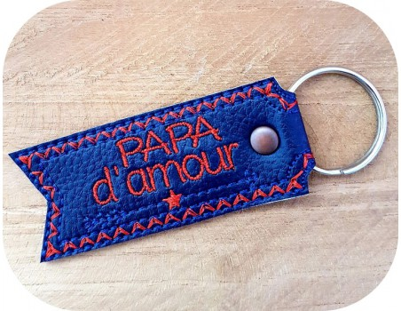 machine embroidery design  i love dad  keychains ith