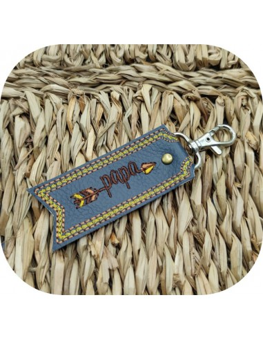 machine embroidery design  arrow dad  keychains ith