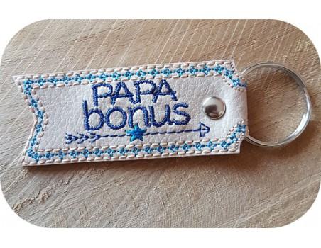 machine embroidery design  father in law  keychains ith