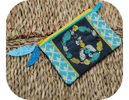 machine embroidery design FSL feather