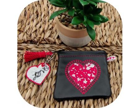 machine embroidery design FSL heart
